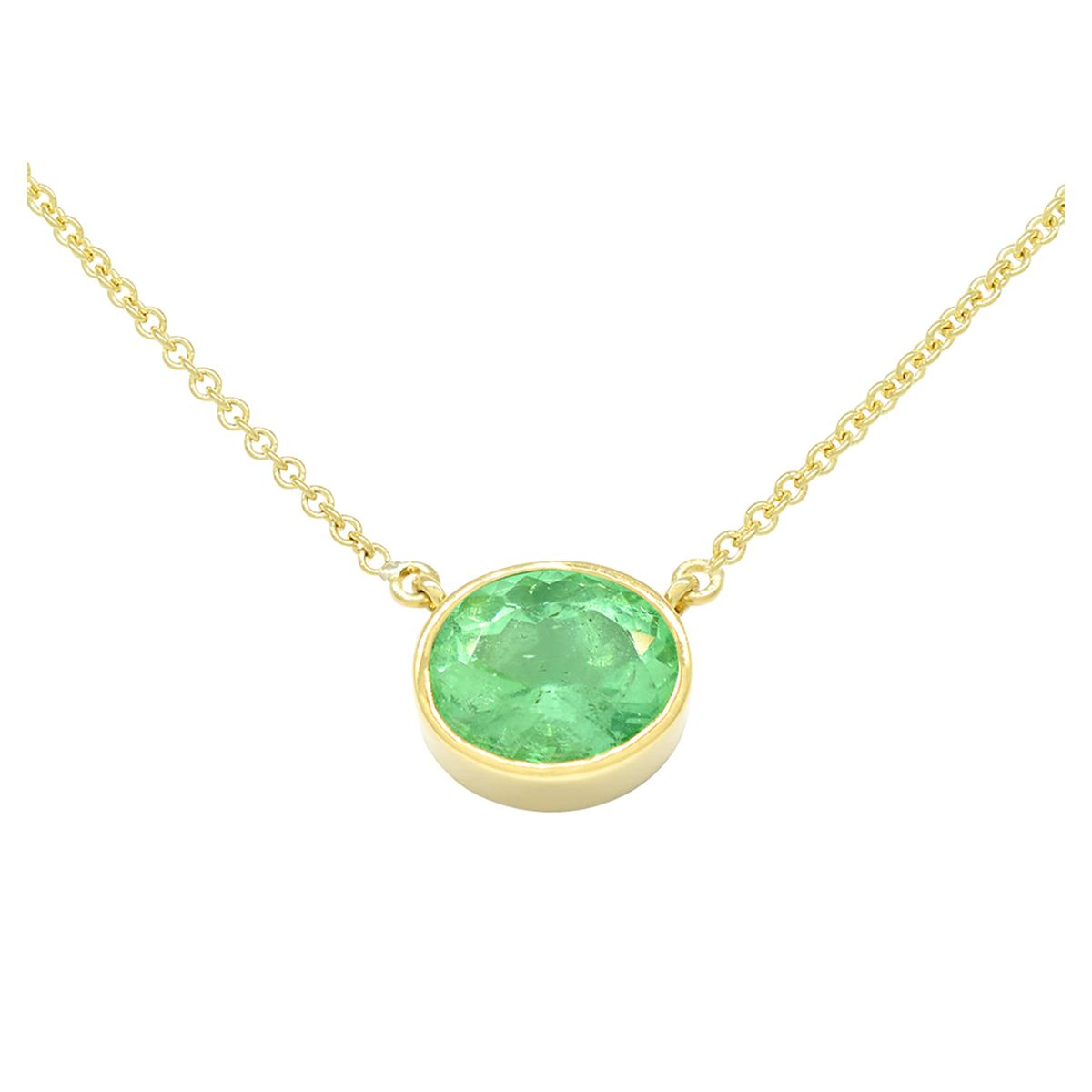bezel-set-solitaire-emerald-necklace-in-18k-yellow-gold-with-oval-shape-emerald