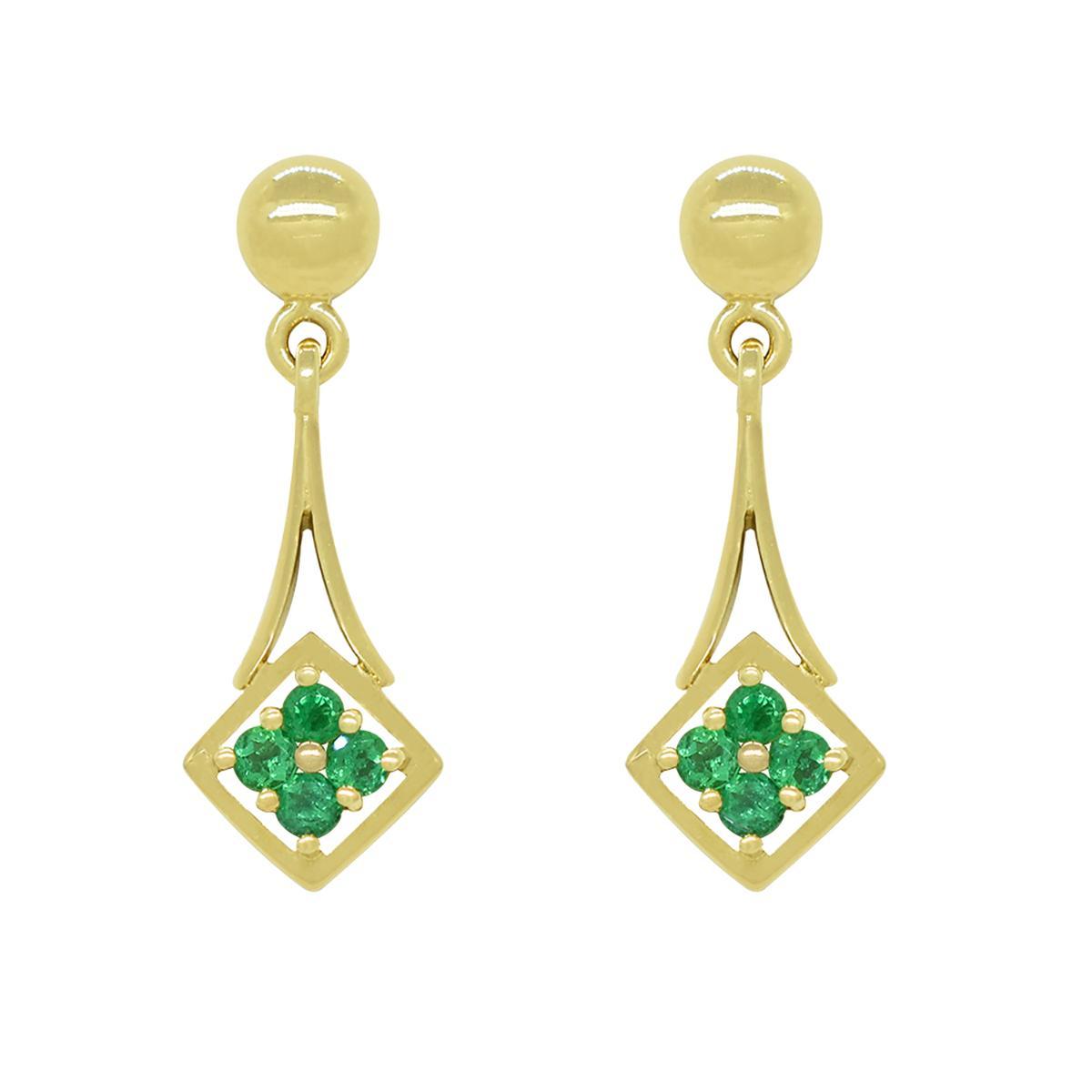 small-chandelier-earrings-with-round-emeralds-in-18k-yellow-gold-dainty-earrings
