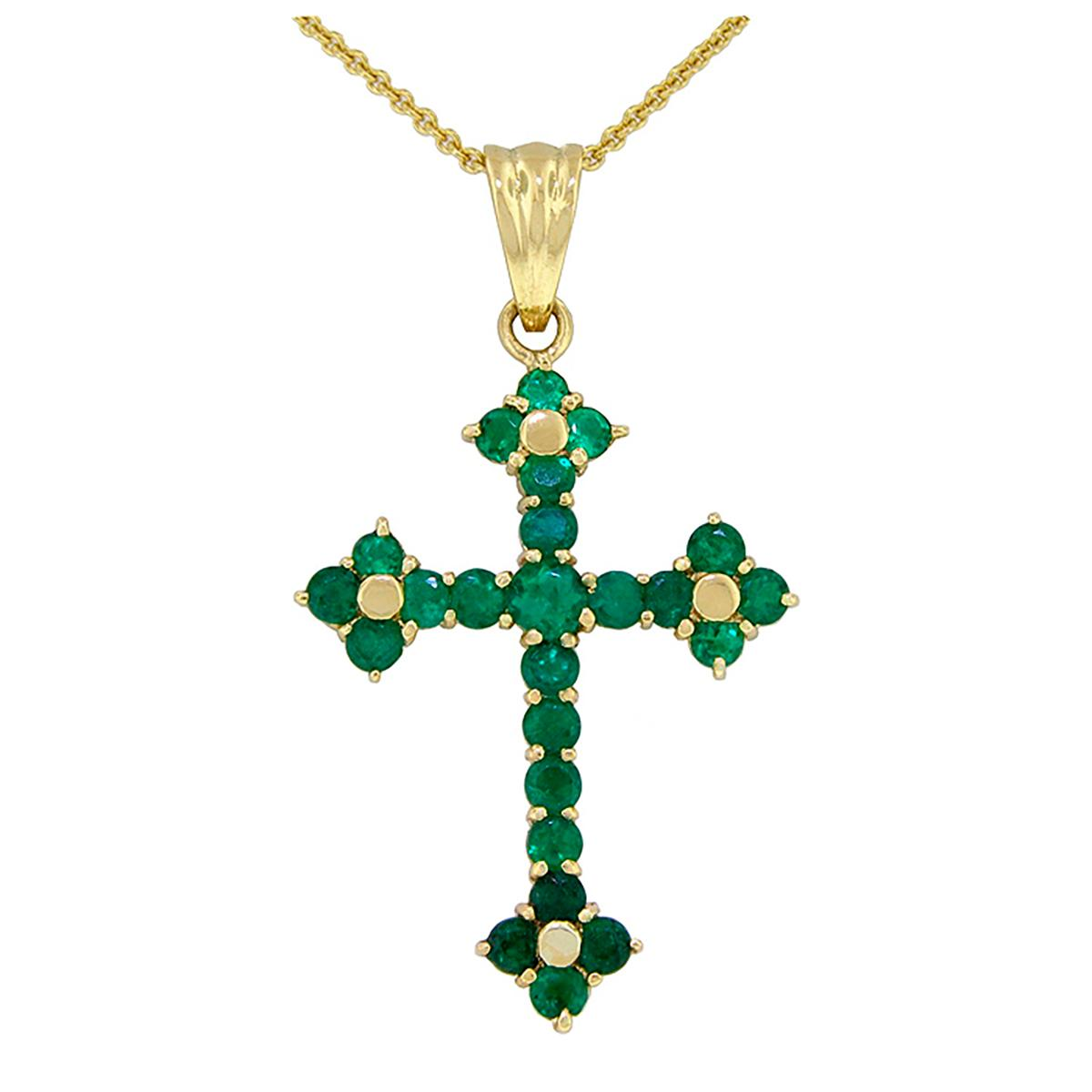 cross-emerald-pendant-in-18k-yellow-gold-with-25-round-cut-emeralds