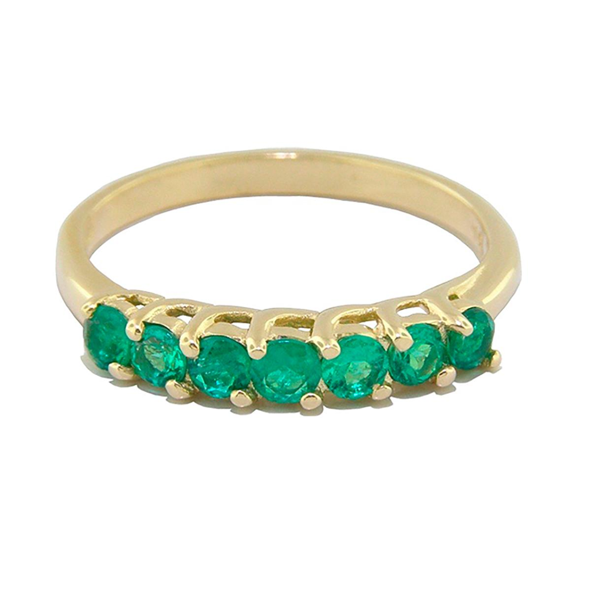 half-eternity-wedding-band-ring-in-18k-gold-with-round-cut-emeralds