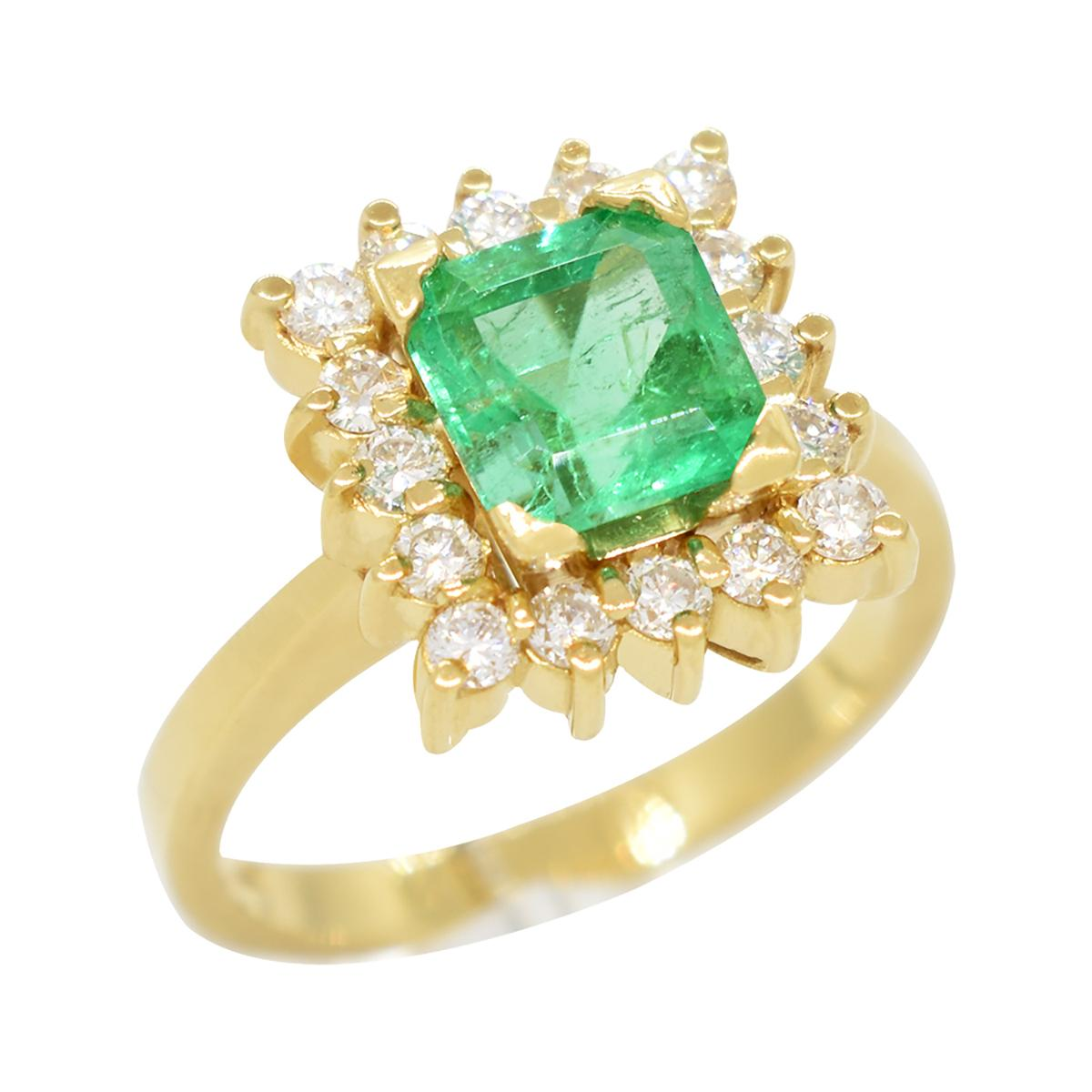 emerald-cut-emerald-set-in-18k-gold-ring-with-diamond-halo-in-cocktail-ring-style