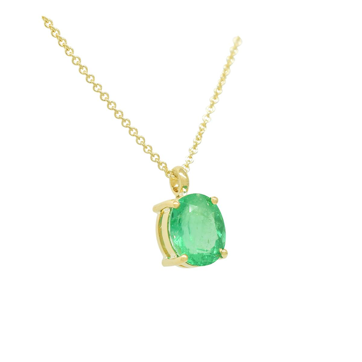 solitaire-emerald-necklace-in-18k-yellow-gold-with-oval-shape-natural-emerald