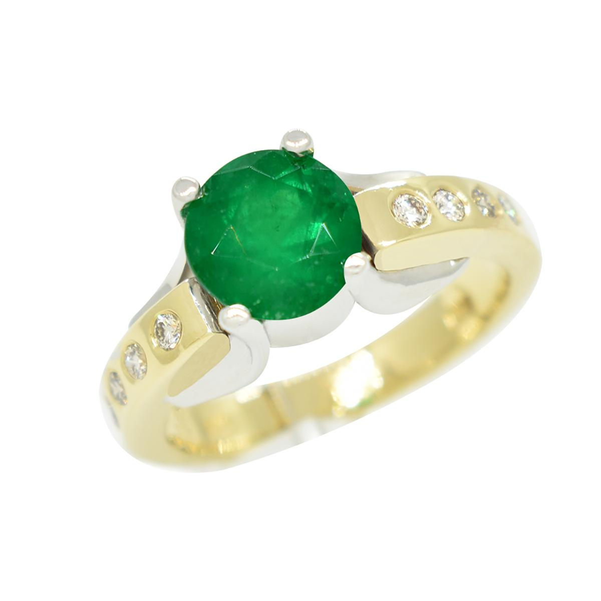 emerald-ring-in-14k-gold-two-tone-ring-and-diamond-accents