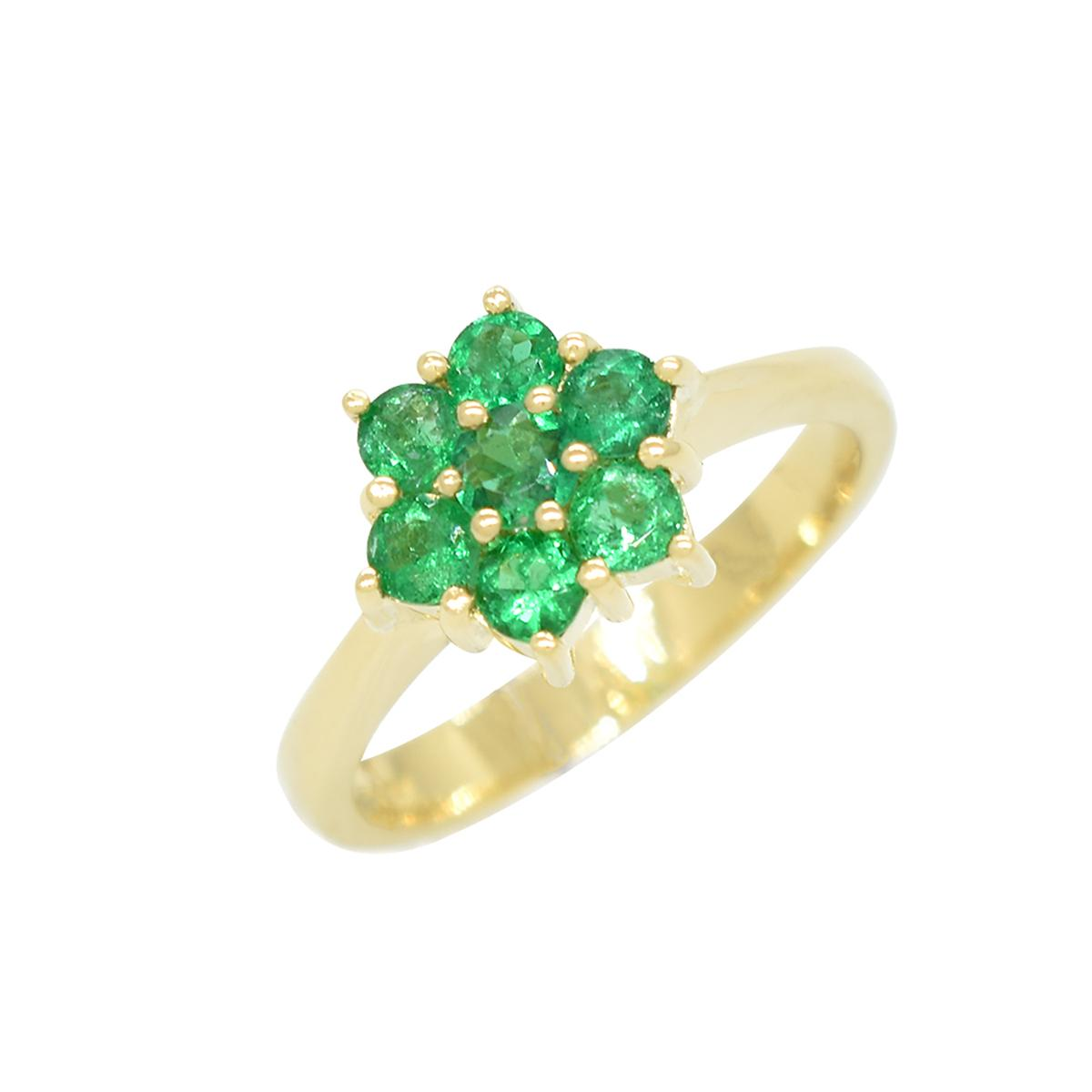 cluster-ring-in-18k-yellow-gold-with-7-round-cut-emeralds