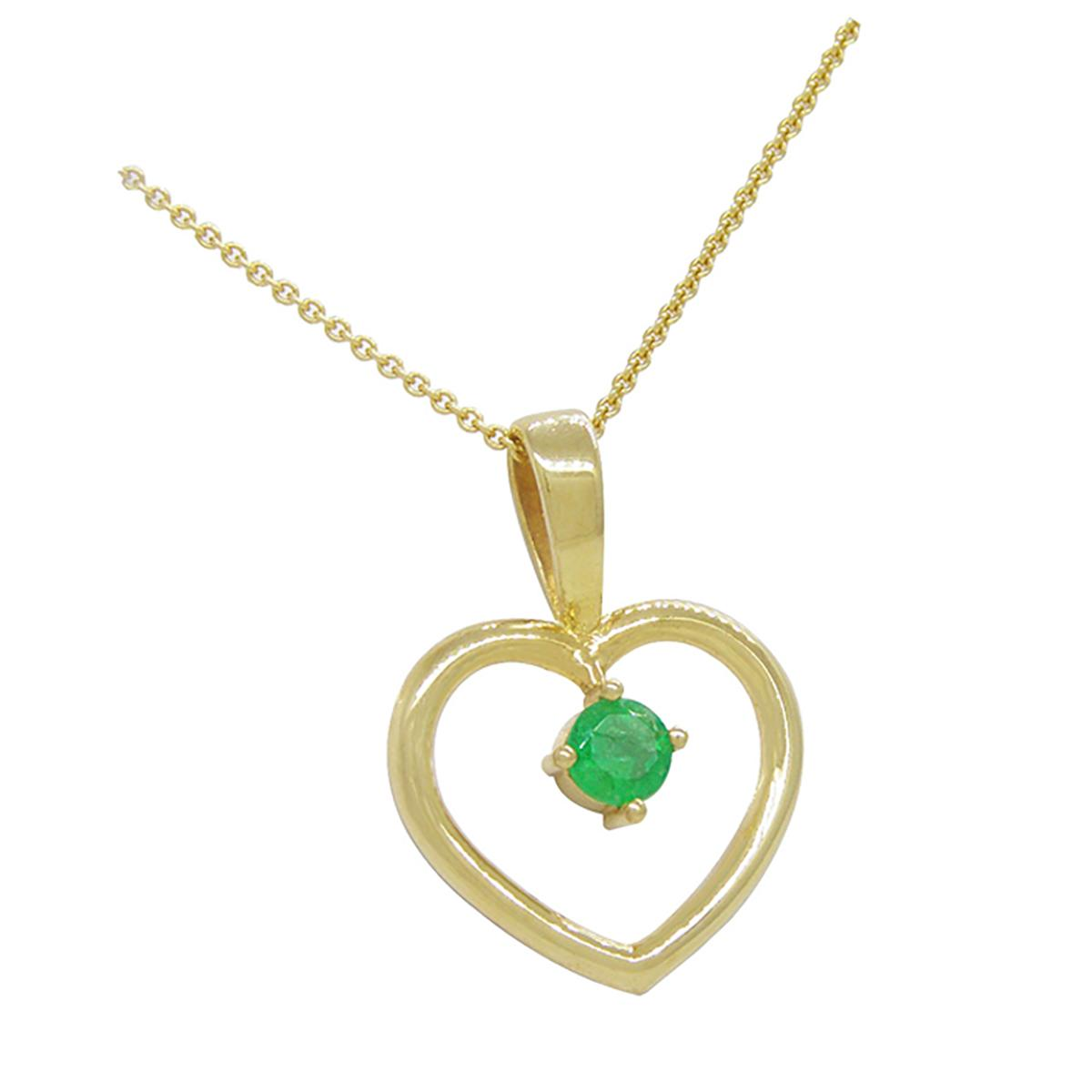 gold-plated-silver-heart-shape-pendant-with-genuine-round-cut-emerald