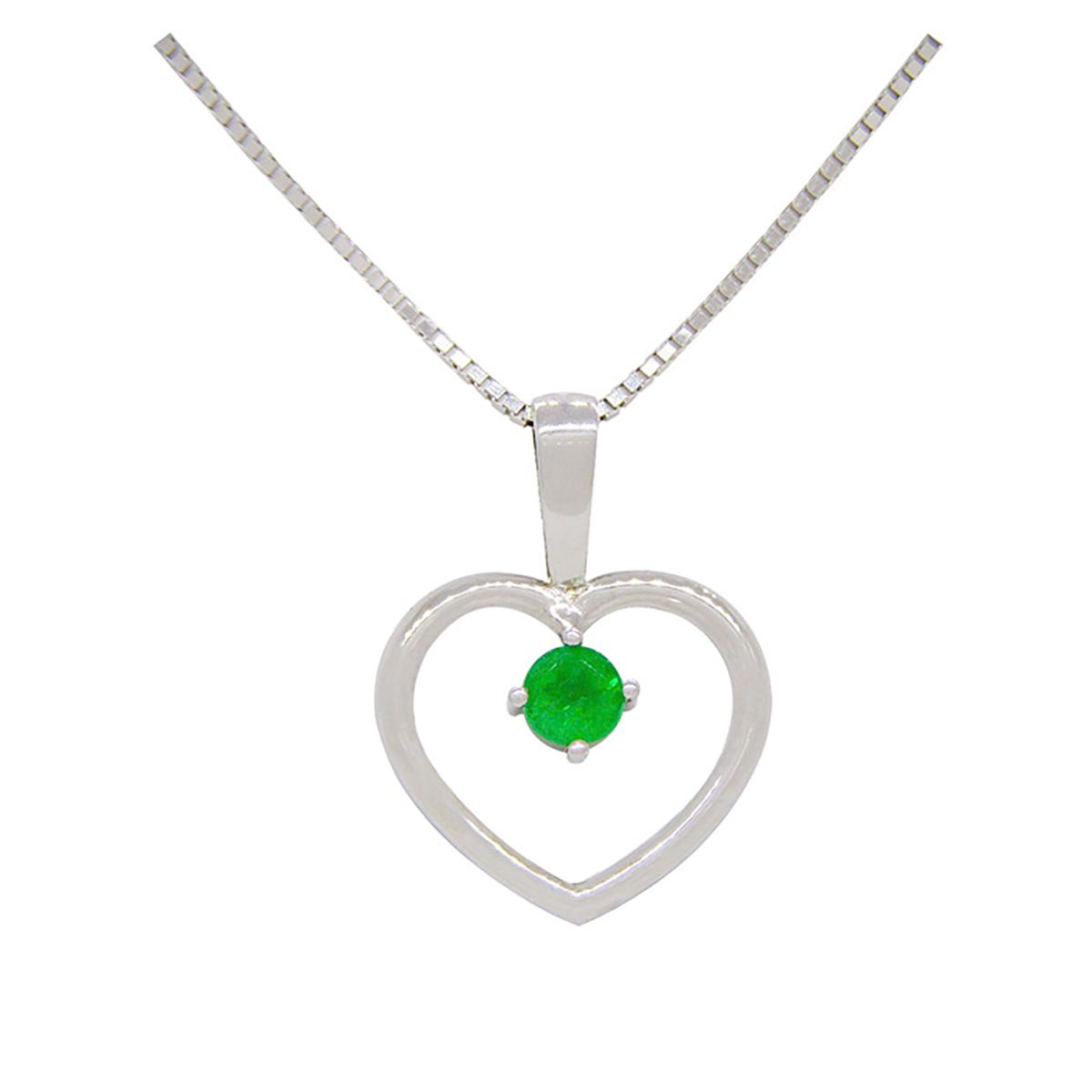 sterling-silver-heart-shape-emerald-pendant-with-round-cut-emerald