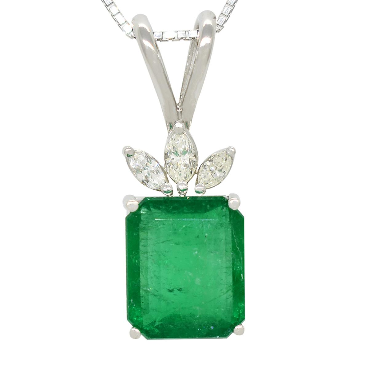 emerald-and-diamond-pendant-in-18k-white-gold-with-emerald-cut-emerald-and-marquise-shape-diamonds