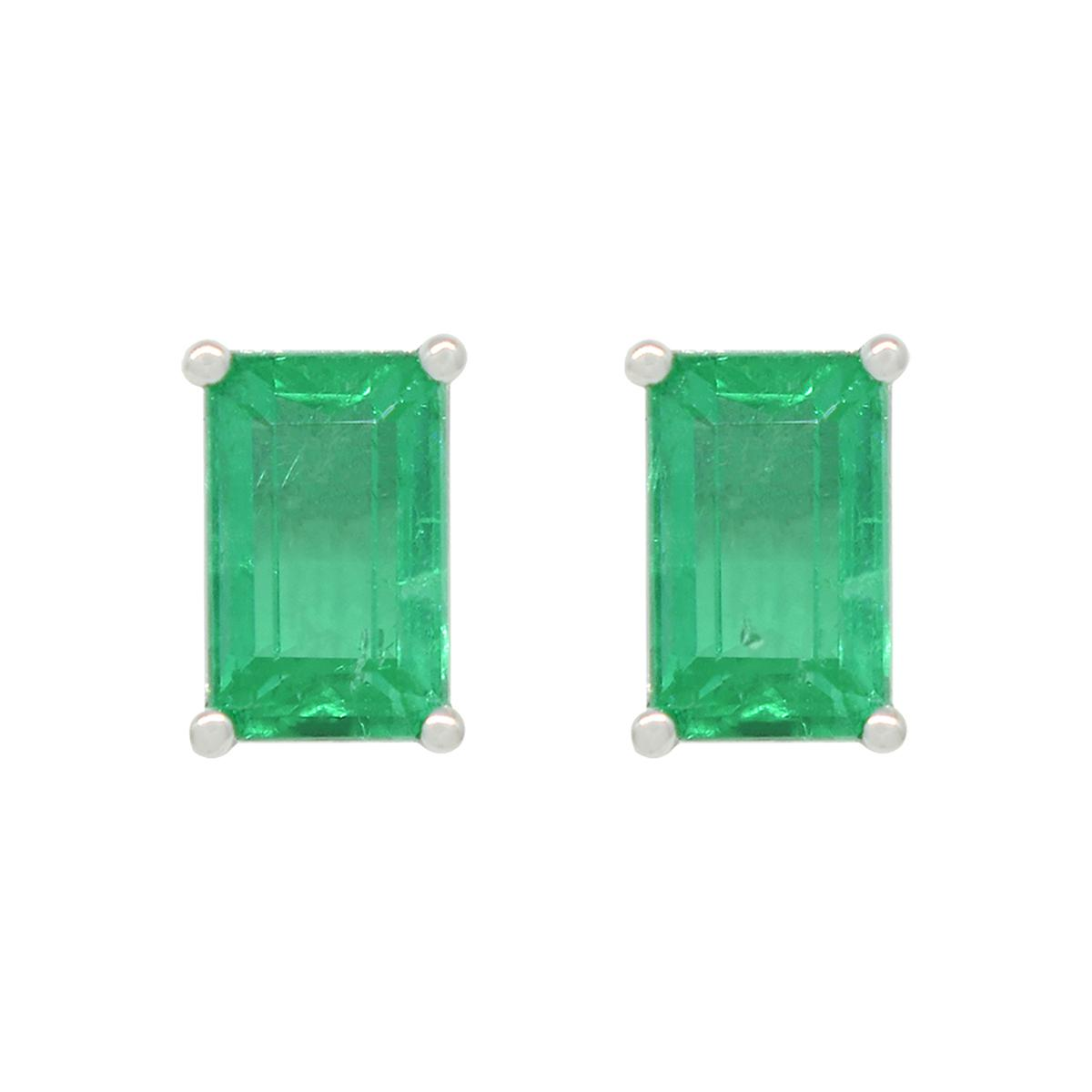 rectangular-stud-earrings-with-emerald-cut-emeralds-in-18k-white-gold