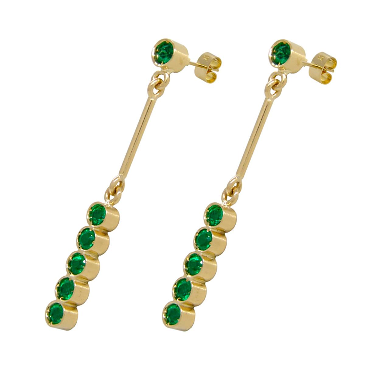 18k-yellow-gold-drop-earrings-with-round-cut-emeralds-in-bezel-setting