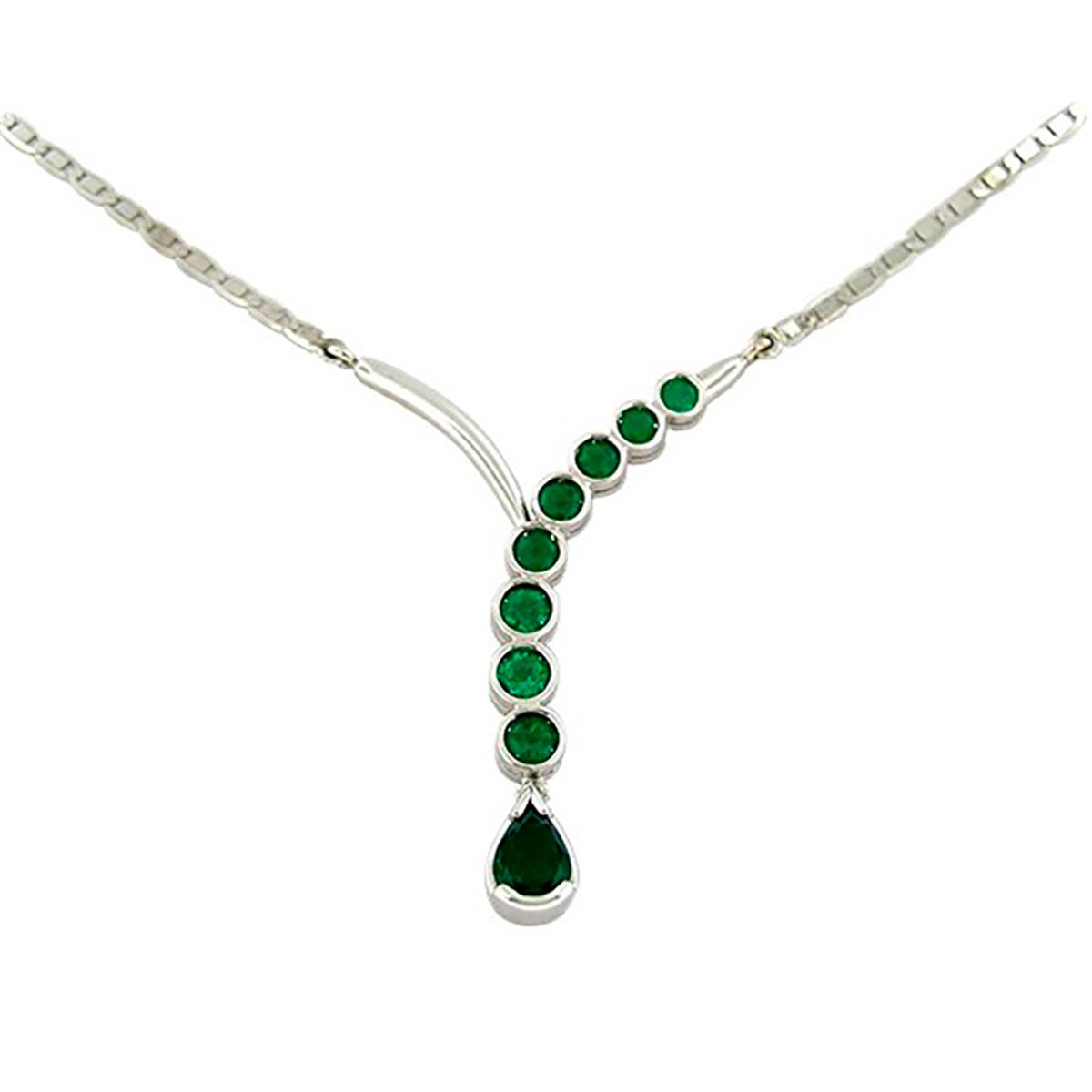 emerald-necklace-in-18k-white-gold-bezel-set-with-round-emeralds