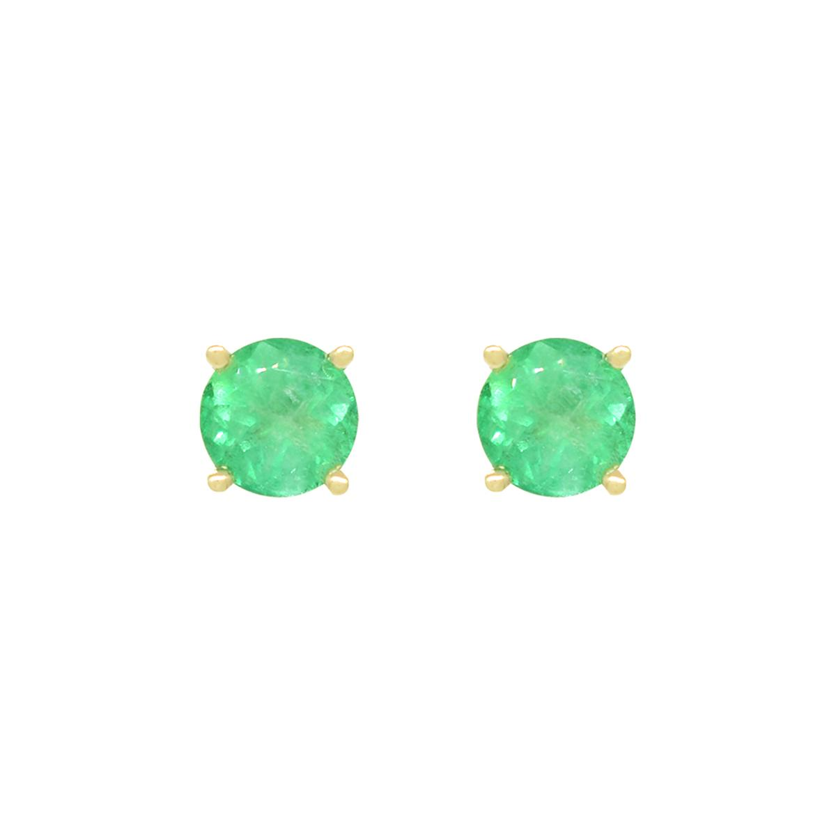 stud-emerald-earrings-in-18k-yellow-gold-with-round-cut-natural-emeralds