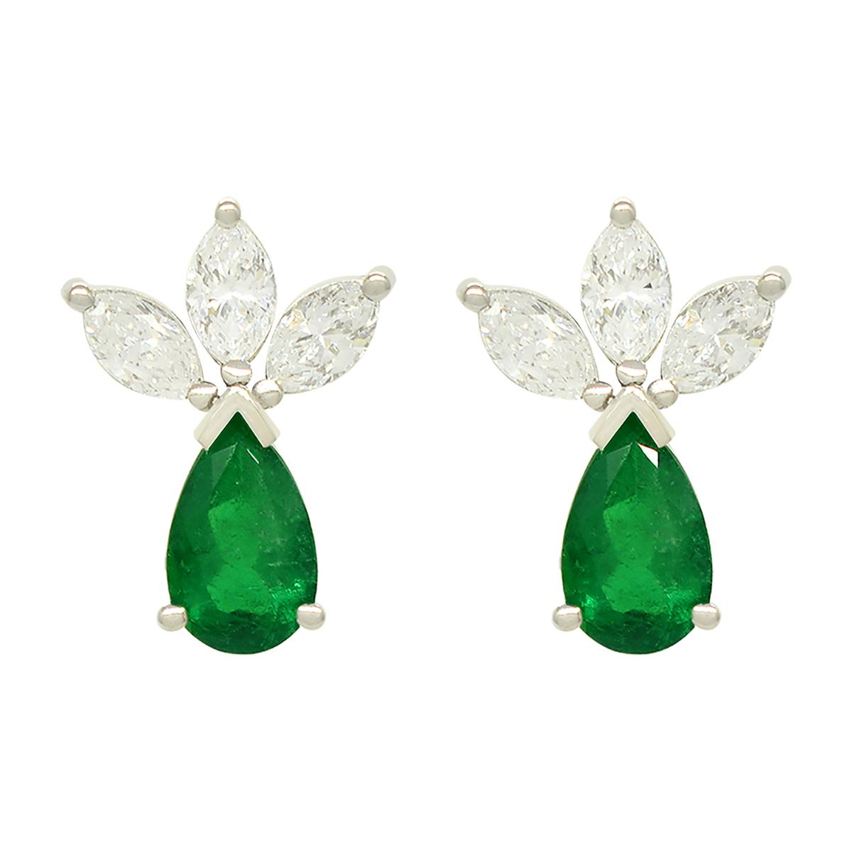 emerald-and-diamond-earrings-in-18k-white-gold-with-pear-emeralds-and-marquise-diamonds