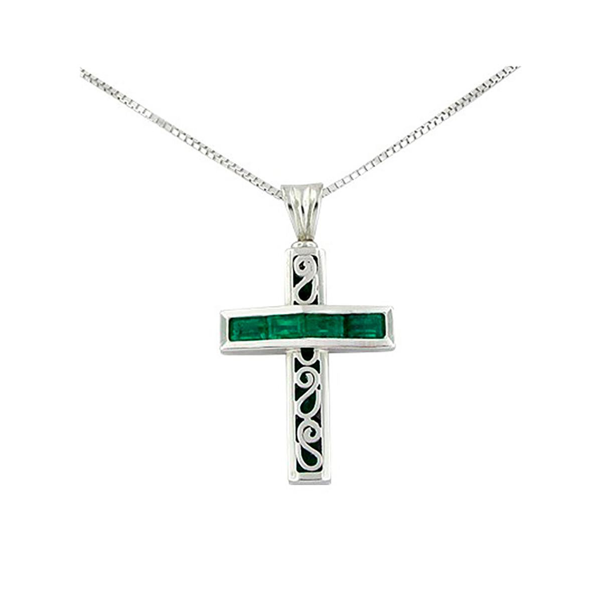 reversible-cross-emerald-pendant-in-18k-white-gold-with-baguette-and-round-emeralds