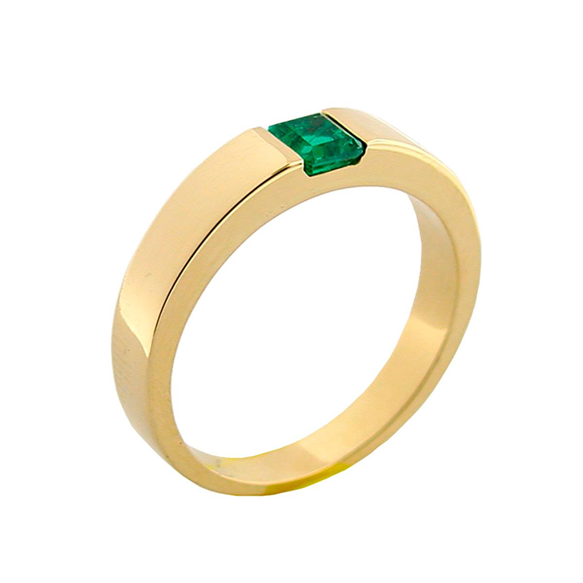solitaire-wedding-band-with-square-natural-emerald-in-18k-gold