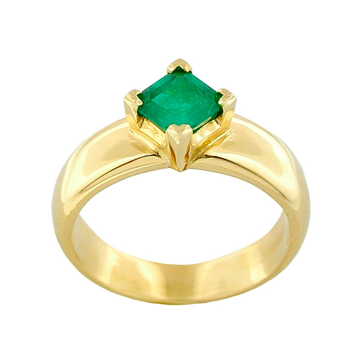 square-shape-natural-emerald-set-in-solid-18k-gold-solitarie-ring