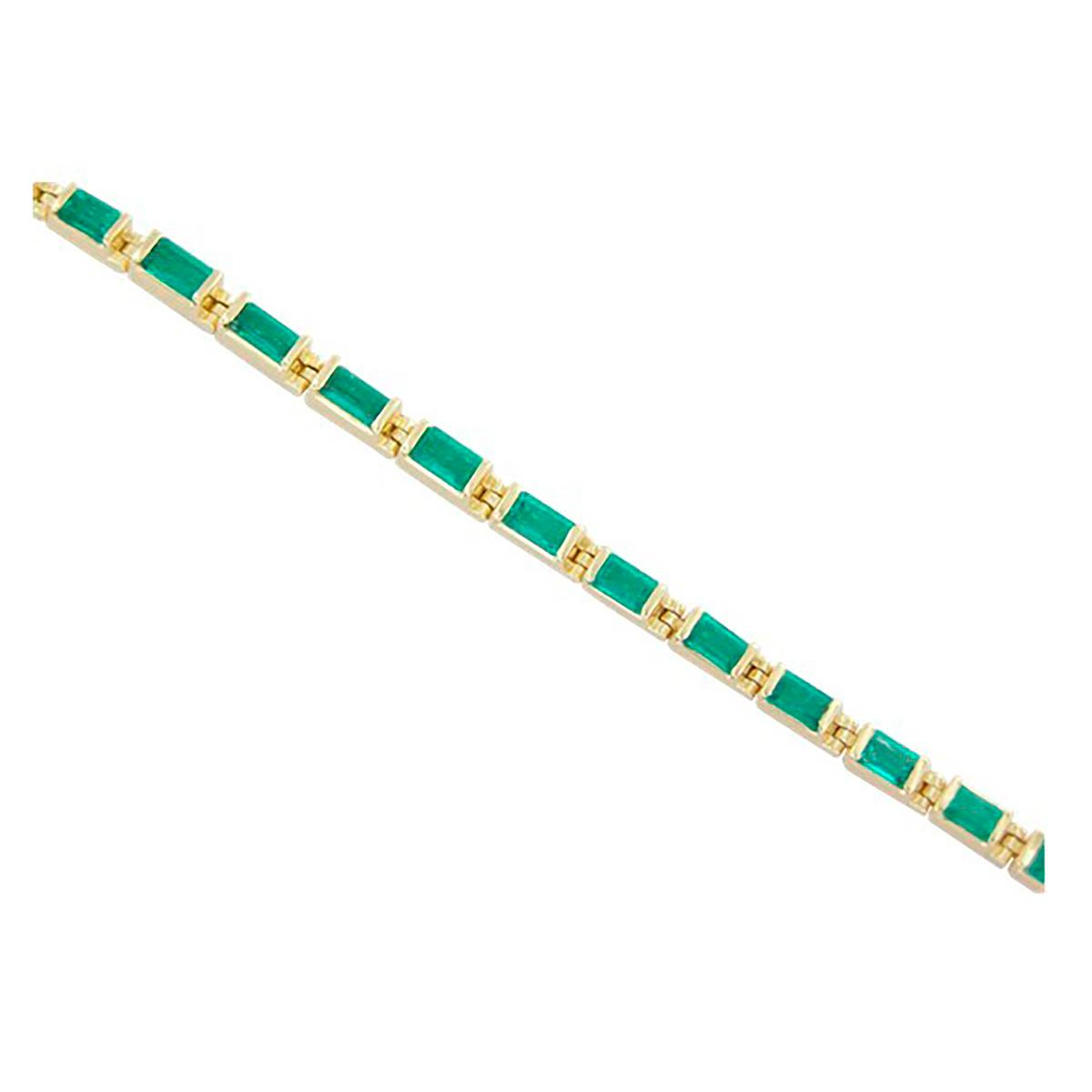 tennis-bracelet-in-18k-yellow-gold-with-23-baguette-cut-natural-emeralds