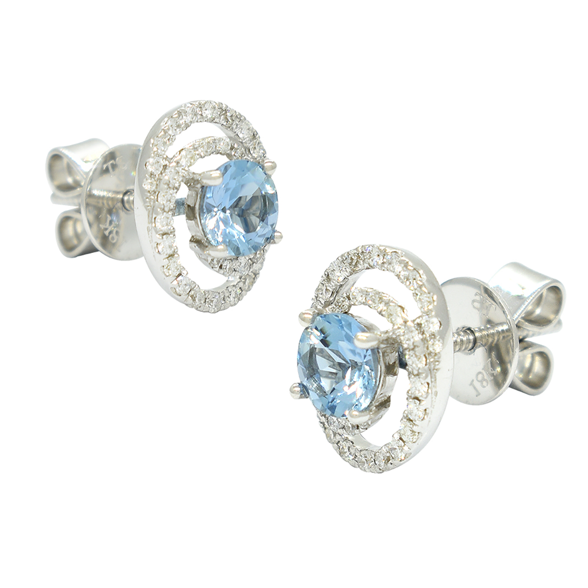 aquamarine-and-diamond-stud-earrings-in-18k-white-gold-in-fine-pave-setting