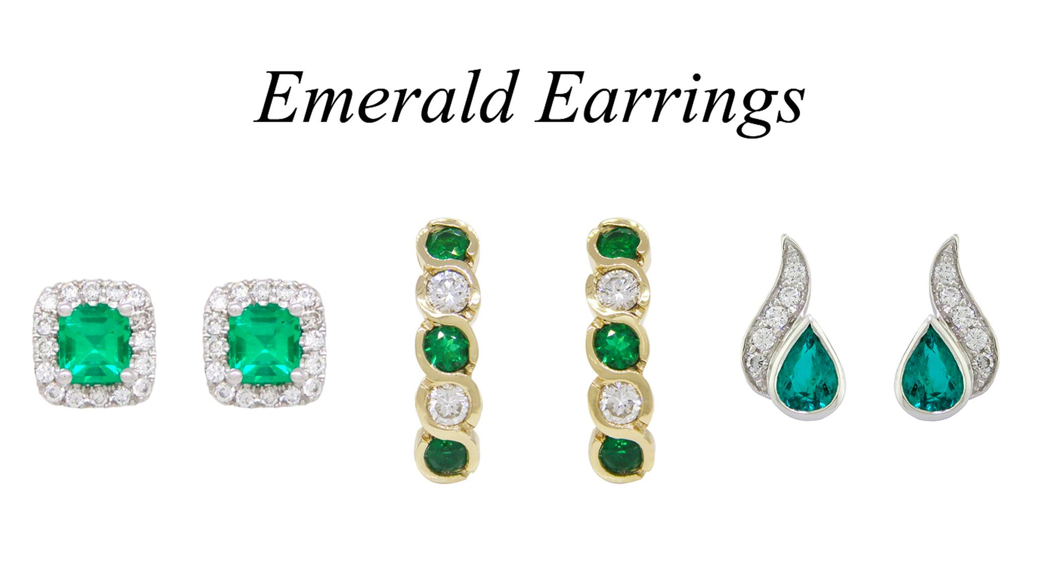2 Emerald Earrings