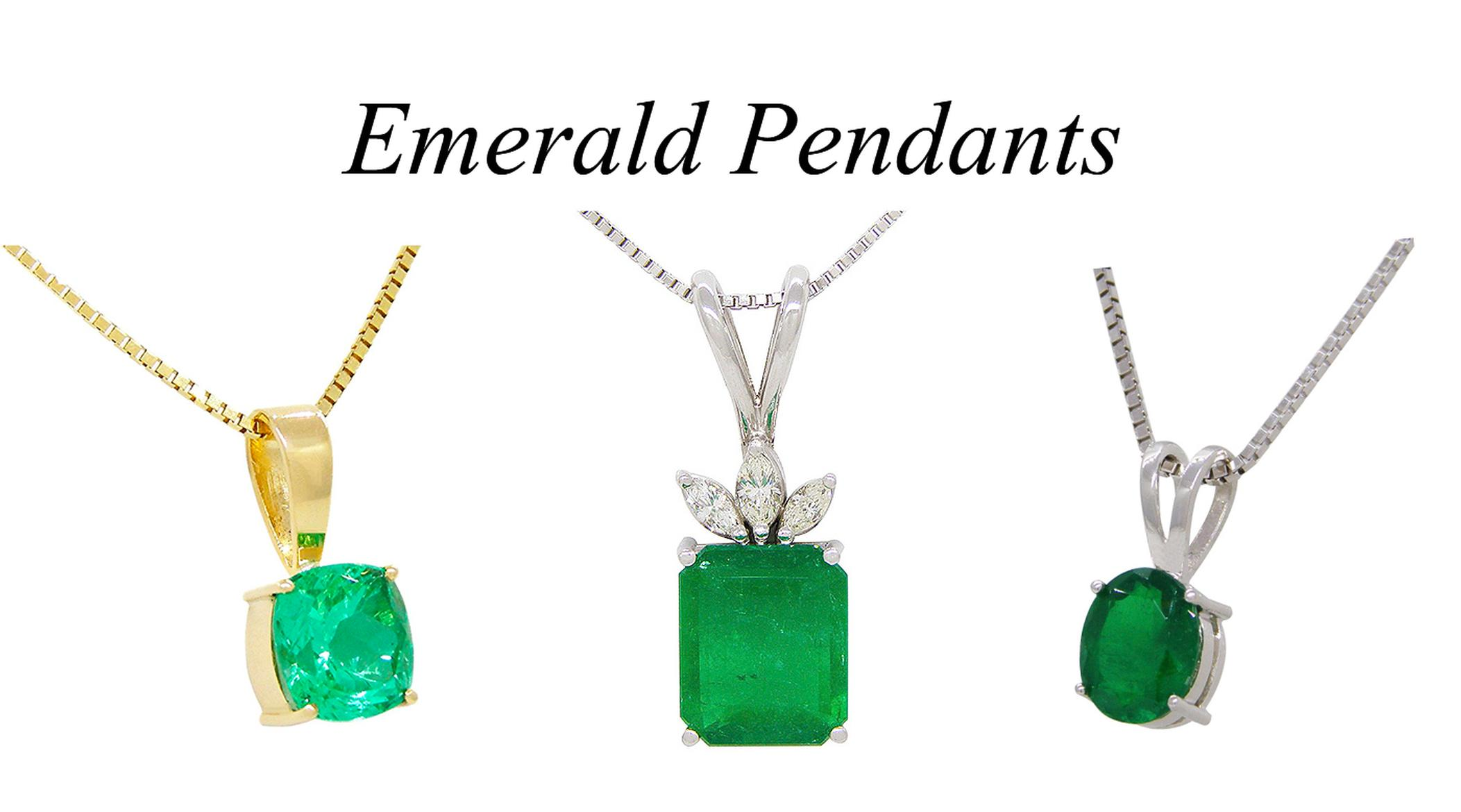 3 Emerald Pendants